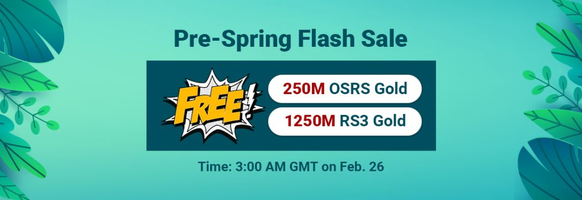 Pre-Spring Flash Sale: Free RS Gold for You to Obtain on RSorder
