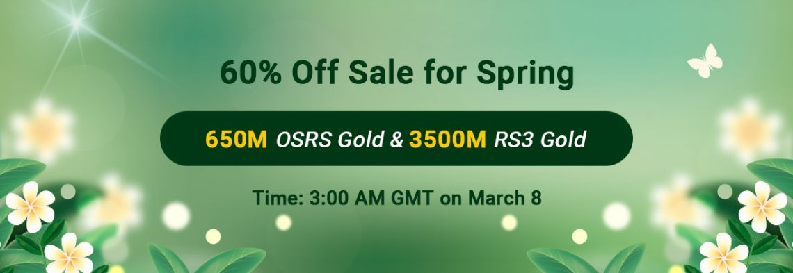 Ready to Snap up Runescape 07 Gold with 60% Off on RSorder for Spring 2021